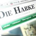 """Offenkundig nur Satire: """"die-harke.de"""" (Bildschirmfoto)"""