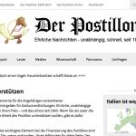 Wirbt um Spenden: Der Postillon (Foto: Screenshot)